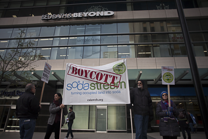 SodaStream rally, Nov. 16, 2013